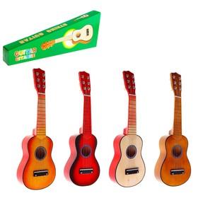"""Игрушка музыкальная """"Гитара"""" 52 см, 6 струн, медиатор, цвета МИКС"""