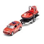 Автомобиль и прицеп с лодкой на воздушной подушке