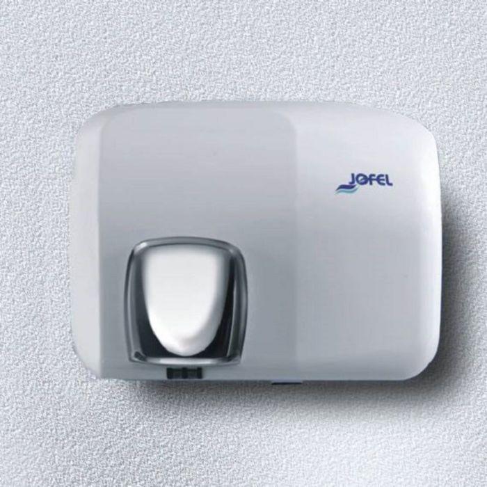 Электросушилка для рук JOFEL Ibero АА93000, включение кнопкой, глазурированная эмаль, белая   239886
