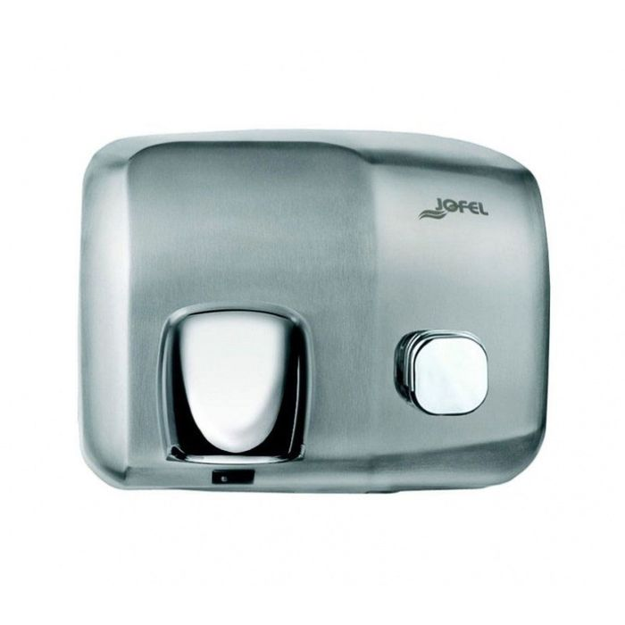 Электросушилка для рук JOFEL Ibero АА91500, включение кнопкой, нержавеющая сталь, матовая