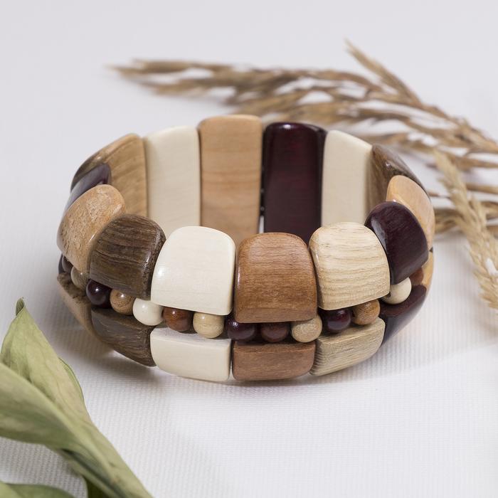 Браслет ручная работа, деревянный Кадушка