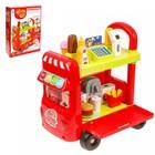"""Игровой модуль """"Магазин на колёсах"""" с аксессуарами, световые и звуковые эффекты, 37 предметов"""