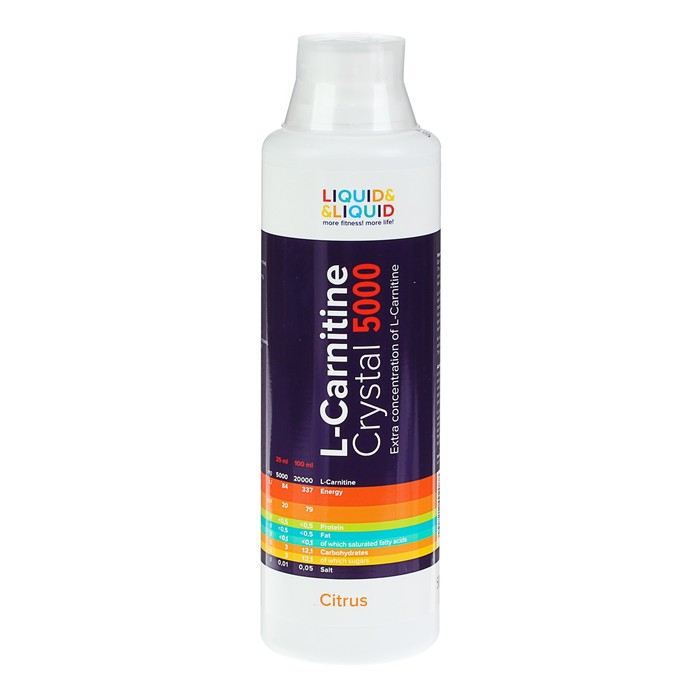 Жиросжигатель Liquid & Liquid L-Carnitine Crystal 5000 Цитрус 500 мл