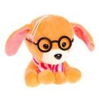 """Мягкая игрушка """"Собака сидит в очках"""" 15 см, МИКС"""