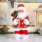 """Дед Мороз """"Клетчатый колпак с подарками"""" , русская мелодия  28 см, свет"""