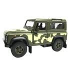 Коллекционная модель военной машины Land Rover Defender, масштаб 1:34-39