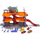 Игровой набор «Гараж», 3 уровня, с тремя машинками и вертолётом