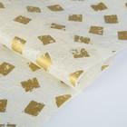 Бумага из абаки, Abaca Paper, «Печать золотая», 0,64 х 0,94 м, 30 г/м2