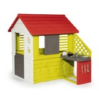 Игровой домик Smoby, с кухней, красный