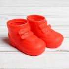"""Ботинки для куклы """"Липучки"""", длина подошвы 7,5 см, 1 пара, цвет красный"""