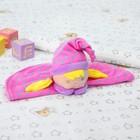 Игрушка для новорождённых «Девчушка в шапочке», цвет розовый