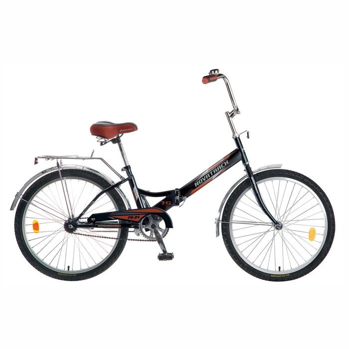 Велосипед 24 Novatrack FS30, 2016, 1ск., цвет чёрный