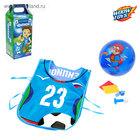 """Игровой набор для мальчиков """"Футболист""""(жилетка,мяч,свисток,дудка) 31,8 Х 43,5 см"""
