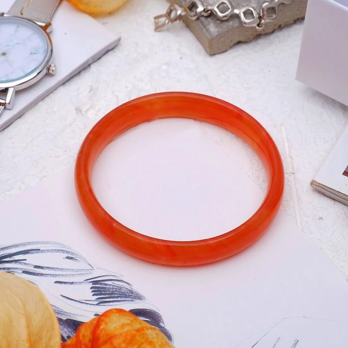 Браслет-кольцо, d=6мм Агат под сердолик