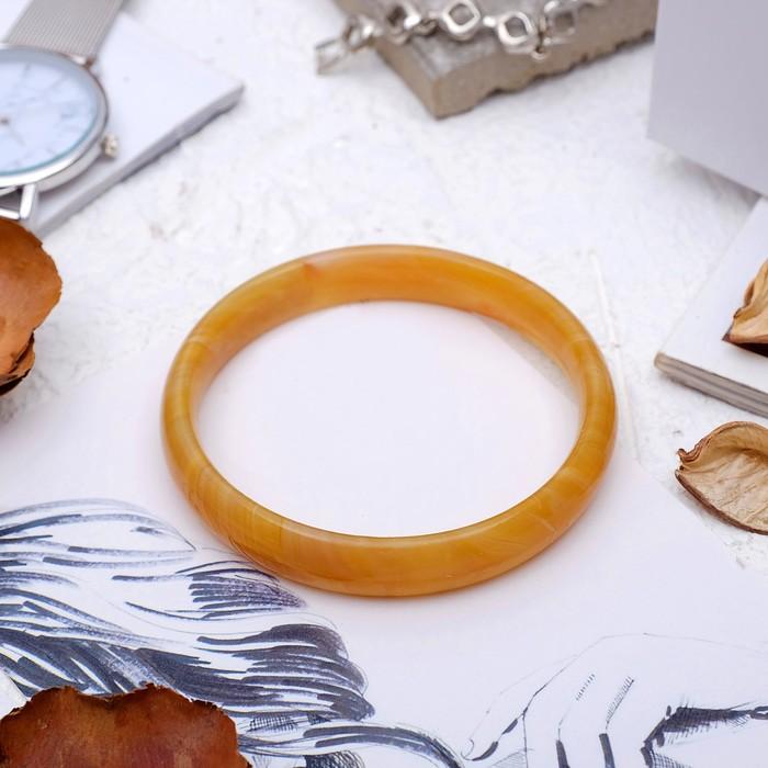 Браслет-кольцо, d=6мм Агат под яшму песочную