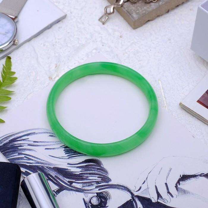Браслет-кольцо, d=6мм Агат под нефрит