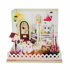 """Интерьерный домик - миниатюра, своими руками """"Веранда у дома"""" со светом"""