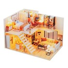 """Интерьерный домик - миниатюра своими руками """"Двухуровневая квартира"""" со светом"""