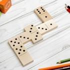 Домино деревянное, деревянная коробка, 28 плашек