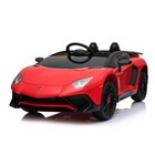 Электромобиль LAMBORGHINI AVENTADOR SV, EVA колеса, цвет красный