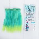 """Волосы - тресс для кукол """"Прямые"""" длина волос 15 см, ширина 100 см, №LSA029"""