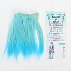 """Волосы - тресс для кукол """"Прямые"""" длина волос 15 см, ширина 100 см, №LSA041"""
