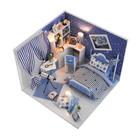 """Интерьерный домик - миниатюра, своими руками """"Дом астронома"""" со светом"""