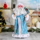 """Дед Мороз """"В синей шубке с подарками"""" 38 см"""