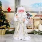 """Дед Мороз """"В белой шубке с подарками"""", 38 см, двигается, с подсветкой"""