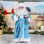 """Дед Мороз """"В синей шубке с подарками"""" , русская мелодия  43 см"""