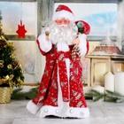 """Дед Мороз """"В красной шубке с подарками""""   43 см"""