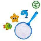Игрушки для купания «Морские друзья»: наклейки из EVA, 3 шт. + сачок