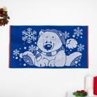 """Полотенце махровое """"New year bear"""" ПЛ-2602-3497, синий 50х90 см хл100% 420 гр/м"""