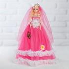 Кукла на подставке «Принцесса» музыкальная, розовое платье, корона