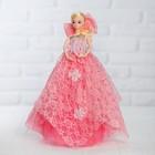 """Кукла на подставке """"Принцесса"""" музыкальная, причёска с бантом"""