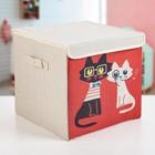 "Короб для хранения 30х30х28,5 см ""Умные коты"""