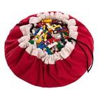 Игровой коврик - мешок для хранения игрушек 2 в 1 Play&Go, коллекция Classic, цвет красный