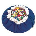 Игровой коврик - мешок для хранения игрушек 2 в 1 Play&Go, коллекция Classic, цвет синий