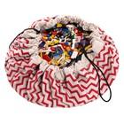 Игровой коврик - мешок для хранения игрушек 2 в 1 Play&Go, коллекция Print, «Красный зигзаг»   39833