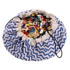 Игровой коврик - мешок для хранения игрушек 2 в 1 Play&Go, коллекция Print, «Синий зигзаг»