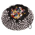 Игровой коврик - мешок для хранения игрушек 2 в 1 Play&Go, коллекция Print, «Чёрный зигзаг»   398337