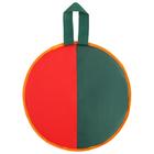 Ледянка d-330мм h=10мм, цвет зелёный/красный