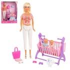 Кукла модель «Молодая мама» с детьми и аксессуарами