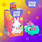 Игровой набор Funny Box «Зверюшки»: карточка, фигурка, лист наклеек
