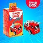 Игровой набор Funny Box «Пожарная техника»: карточка, фигурка, лист наклеек