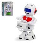 Робот «Барабанщик», световые и звуковые эффекты, цвета МИКС