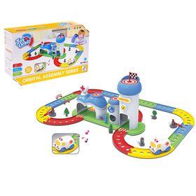 Автотрек-конструктор для малышей, 45 деталей, со звуковыми эффектами, длина трассы: 2,16м