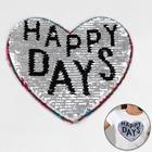 Аппликация из пайеток «Орнамент/happy days», двусторонняя, 21 × 20 см