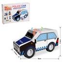 Конструктор мягкий из EVA «Полицейская машина», световые и звуковые эффекты, 35 деталей