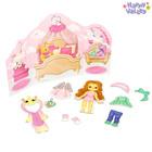 Магнитный набор с куклой, фоном и наклейками «Малышка Полли»